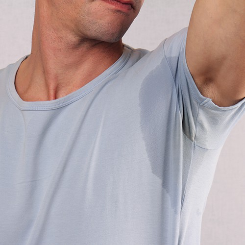 Male Underarms Prolific Sweating